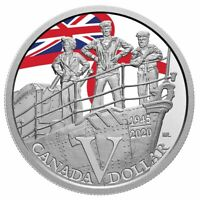 2020 Canada 75th anniversary of VE Day Navy dollar 99.99% silver IN STOCK