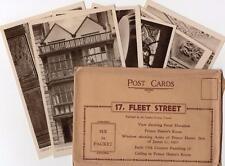 Set of 6 unused pcs 17 Fleet Street London with packet Ref C138