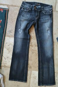 Faded Black MISS ME Distressed JP412782 Stretch Boot Flare Jeans 29
