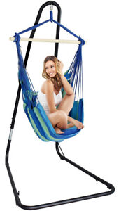 Sorbus® Adjustable Hanging Hammock Chair Swing & Stand, 1 Person, 330 Pound Capa