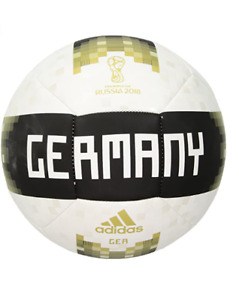 Adidas FIFA World Cup Germany Soccer Ball, Sz 5, White/ Black/ Gold