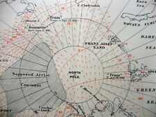 1913 Stefansson - CANADIAN ARCTIC EXPEDITION - Parry Archipelago - COLOR MAP - 7
