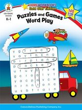 Puzzles and Games: Word Play, Grades K - 1: Gold Star Edition (Home Workbooks) b