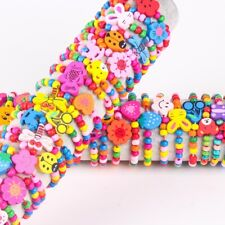 Wholesale 30pcs Bracelets Toy Handmade Kids Children Cartoon Animal Wood Beads