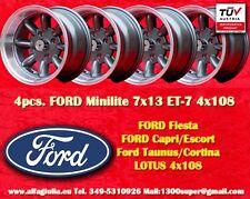4 Cerchi Sunbeam Alpine Tiger Lotus  Minilite 7x13 Wheels Felgen Llantas Jantes