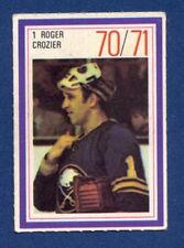 #1 ROGER CROZIER 70/71 Esso NHL Power Player Buffalo Sabres
