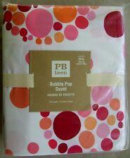 Pottery Barn Bubble Pop Full Queen Duvet Cover & 2 Standard Shams NWT Multi Pink