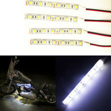 4PCS 10cm LED Car Truck Motors Flexible Strip Light Lamp Waterproof White