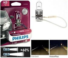 Philips VIsion Plus 60% H3 55W One Bulb Fog Light Halogen Replacement Plug Play
