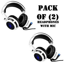 Pack of (2) New Pyle Pgphone80 7.1 Gaming Headset Headphones with Microphone Usb