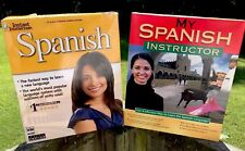 Lot(2) Instant Immersion Spanish & My Instructor PC/MAC CD ROM Learn Software