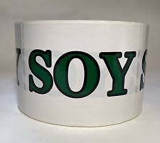 """White """"Soy"""" Stickers 4""""x3"""" -500 ct"""