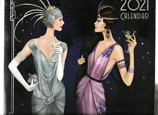 2021 ART DECO CALENDER MONTH TO VIEW WITH PLENTY OF SPACE FOR WRITING