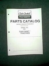 CUB CADET GARDEN TRACTOR 8 HP TILLER MODEL # 400 ATTACHMENT PARTS MANUAL