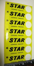 Vintage Star Chewing Tobacco Price Point Stickers 7 on sheet Original Authentic