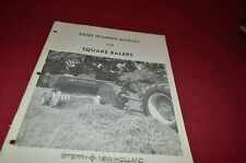 New Holland Square Balers For 1975 Sale Training Manual Manual DCPA5