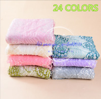Flower Stretch Lace Trim Ribbon Elastic Fabric Coloured Sewing Decor Craft FL245