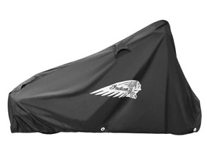 INDIAN MOTORCYCLE BLACK FULL ALL WEATHER LOGO COVER FOR 2014-2021 CHIETAIN