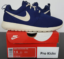 best sneakers 045cb bb92a WOMENS NIKE ROSHE ONE RUNNING SHOES BINARY BLUE OATMEAL NEW 511882-404   SIZE 7.5