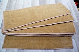 24x8.50inches(61x22cm) HONEY COLOUR STAIR PADS SET OF 12, BN #5105