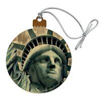 Statue of Liberty New York City Wood Christmas Tree Holiday Ornament