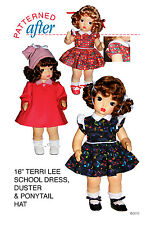 """Shorthand Secret"" Dress And Duster Clothing Pattern For 16"" Terri Lee Doll"