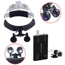 Dental Surgical Medical Headband Binocular Loupes 35x R Led Head Light Lamp