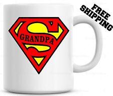 Super Grandpa Coffee Mug Cup Fathers Day Gift For Grandad Papa Christmas