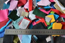 Assorted Craft Felt Pieces Small/ Cut-offs Collage pack 100g bags