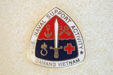 US USA USN Navy Support Activity Da Nang Vietnam Military Hat Lapel Pin