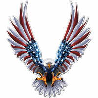 American Eagle Flag Wings Sticker Decal Universal for Car Motor bumper macbook