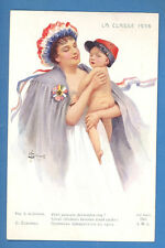 RUSSIA WOMAN AND BABY PATRIOTIC BY SOLOMKO VINTAGE PC. 3117