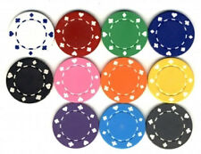 100 CLAY SUITED POKER CHIPS Custom SET 11.5 gram FREE SHIPPING **