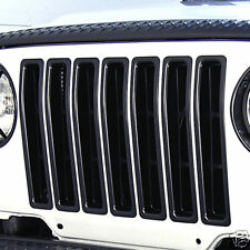 Black Grill Grille Insert Kit for Jeep Wrangler TJ 97-06 11306.03 Rugged Ridge