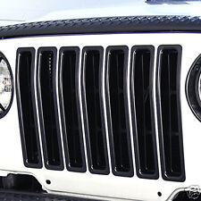 Black Grill Grille Insert Kit  Jeep Wrangler TJ 1997-2006 11306.03 Rugged Ridge