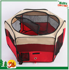 """『NEPTUNE』35"""" Red Pet Playpen Dog Puppy Soft Exercise Kennel Crate Cage M PC03-P"""