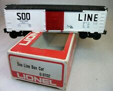 LIONEL: 9702 SOO LINE BOX CAR C-8 LN WORN ORIGINAL BOX