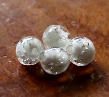 """30pcs 8mm Round """"Glow-in-the-Dark"""" Glass Beads - Opaque White"""
