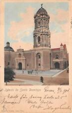 SANTO DOMINGO CHURCH PERU TO GERMANY VIA ALEMANIA SHIP PANAMA POSTCARD 1901