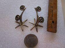Sterling Silver Earrings Signed J Felix Handmade Southwest Vintage Original