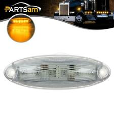 1x Roof Running Clear/Amber 6 LED Cab Marker Top Light for Freightliner Cascadia
