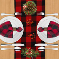Christmas Table Decorations Table Runner Table Cloth Placemat Party Xmas Decor!!