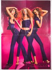 KATE MOSS Gisele Bundchen DARIA WERBOWY Gloria Vanderbilt jeans wall poster RARE