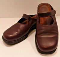 Naot Women's 7 M EUR 38 Slip On Mules Leather Shoes Wedge Clogs Mary Jane Brown