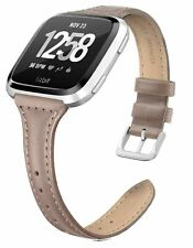 Fitbit Versa Compatible Genuine Leather Replacement Band
