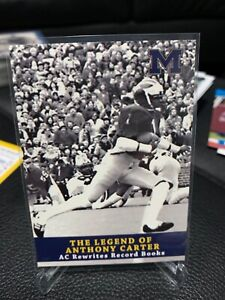 TK LEGACY MICHIGAN ANTHONY CARTER AC6 Legend of Anthony Carter Wolverines RARE
