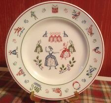 VTG Johnson Brothers Christmas Salad Plate TWELVE DAYS OF CHRISTMAS 9 Ladies
