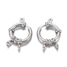 10 pcs 304 Stainless Steel Spring Ring Clasps Stainless Steel Color 23x14x4mm