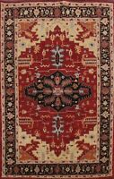 7x10 RED Geometric Traditional Oriental Area Rug Hand-tufted Tribal Dining Room