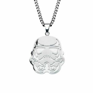 Action Space Movie Star Wars Stormtrooper Stainless Steel Necklace